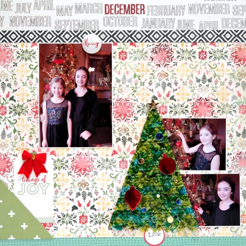 Tidings of Joy Christmas Scrapbook Layout by Dana Tatar