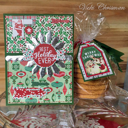 Holiday Cheer with a Christmas Card and Cookie Bag Ensemble by Vicki Chrisman for Scrapbook Adhesives by 3L