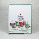 Coffee Christmas card by Yvonne van de Grijp