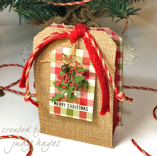 DIY Christmas Gift Card Holder Tutorial by Judy Hayes for Scrapbook Adhesives by 3L