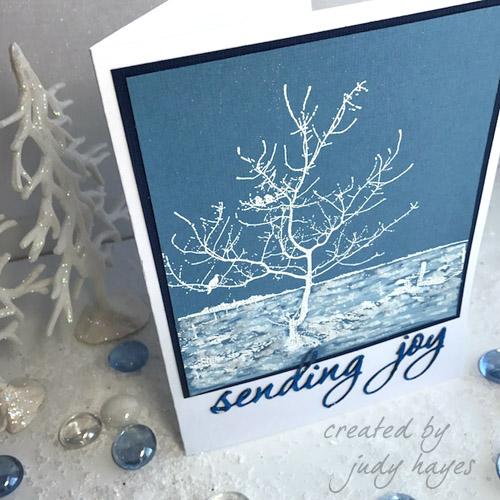 Sending Joy Card with 3D Foam Creative Embellishment Kit Image2 by Judy Hayes for Scrapbook Adhesives by 3L