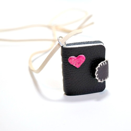 3D Foam Heart Mini Necklace by Dana Tatar