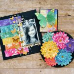 Gold foil on a three piece rainbow ensemble using adhesives from Scrapbook Adhesives by 3L