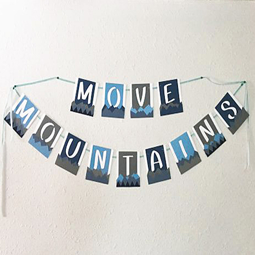 Mountains and Bear Themed Baby Shower Banner by Latrice Murphy for Scrapbook Adhesives by 3L