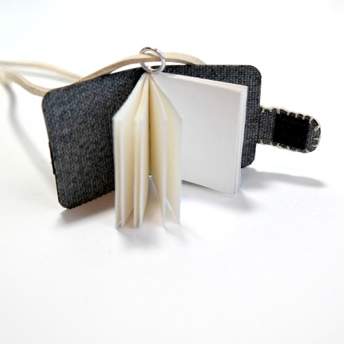 Mini Book Neckalce Inside Pages by Dana Tatar