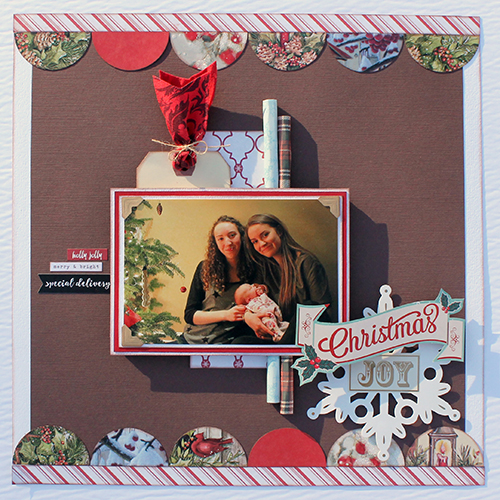 UpCycle Christmas Card Layout by Tracy McLennon for Scrapbook Adhesives by 3L