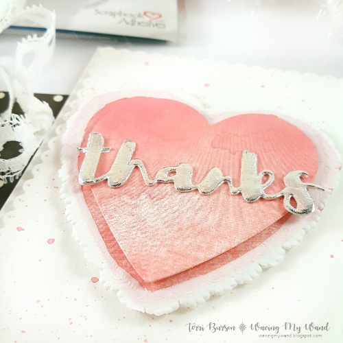 Stacked Hearts Thank You Card by Terri Burson for Scrapbook Adhesives by 3L