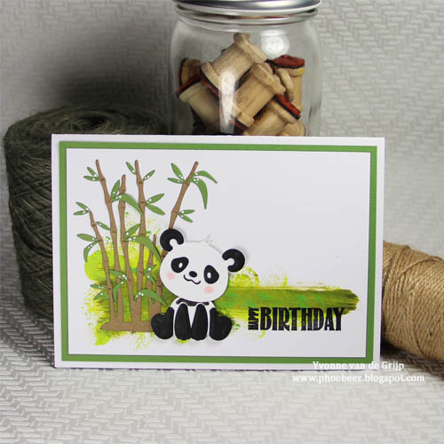 CUTE Layered Panda Birthday Card by Yvonne van de Grijp for Scrapbook Adhesives by 3L