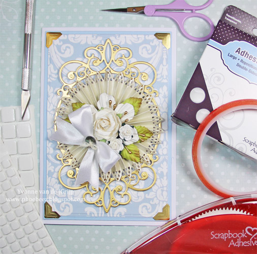 Romantic spring card using Scrapbook Adhesives by 3L products, created by Yvonne van de Grijp