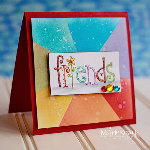 Rainbow Friends with Crafty Foam Tape by Michele Kovack for Scrapbook Adhesives by 3L