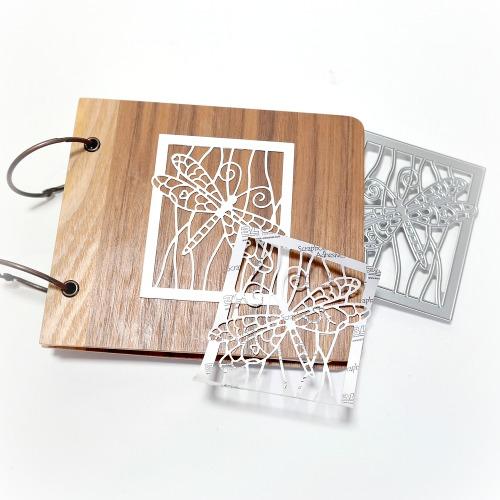 How to die-cut 3D Foam to create a dimensional album cover embellishment by Dana Tatar