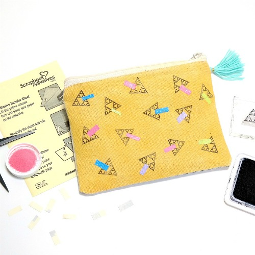 80s Inspired Neon Zipper Clutch by Dana Tatar for Scrapbook Adhesives by 3L