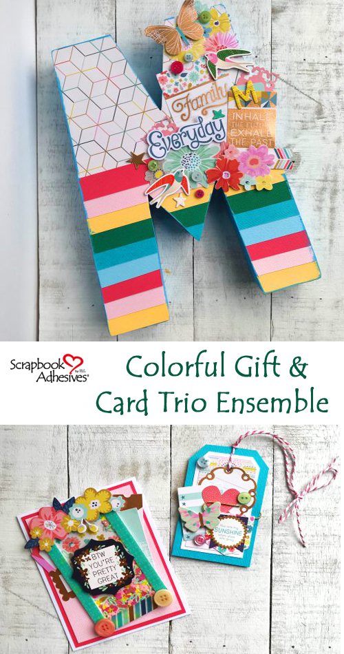 Colorful Gift and Cards Trio by Latrice Murphy for Scrapbook Adhesives by 3L Pinterest