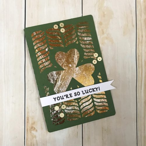 Gold Foiled Shamrock Card by Latrice Murphy for Scrapbook Adhesives by 3L