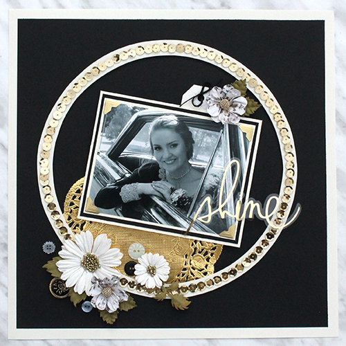 Shimmer and Shine Layout with Adhesive Dots by Tracy McLennon for Scrapbook Adhesives by 3L