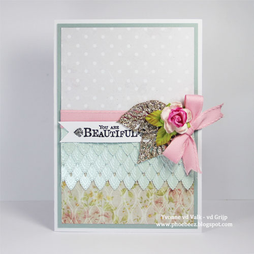 Gorgeous Layered Elegant Card by Yvonne van de Grijp for Scrapbook Adhesives by 3L