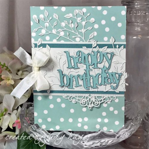 How to Adhere Intricate Die Cuts on a Happy Birthday Card by Judy Hayes for Scrapbook Adhesives by 3L