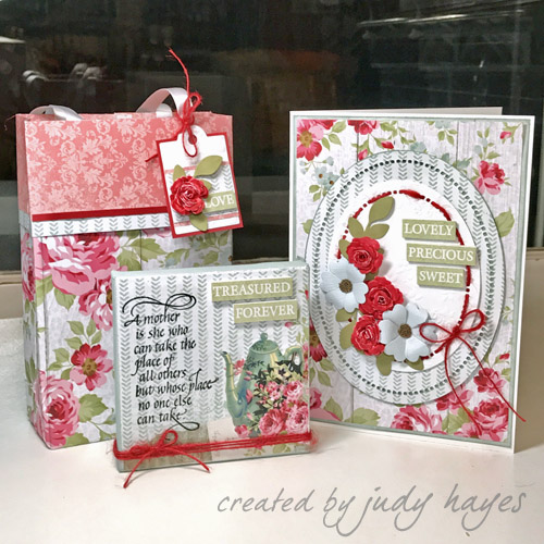 Mother's Day gift ensemble by Judy Hayes for Scrapbook Adhesives by 3L