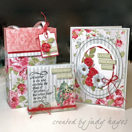 Making a Mother's Gift Ensemble by Judy Hayes for Scrapbook Adhesives by 3L