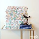 3D Hexagon Origami Wall Art using Map Patterned Paper by Dana Tatar