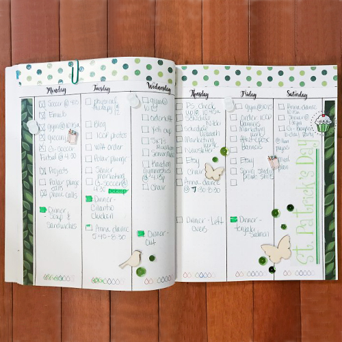 Monochromatic Weekly Bullet Journal Spread by Latrice Murphy for Scrapbook Adhesives by 3L
