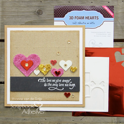 Spring Love with 3D Foam Hearts by Yvonne van de Grijp for Scrapbook Adhesives by 3L