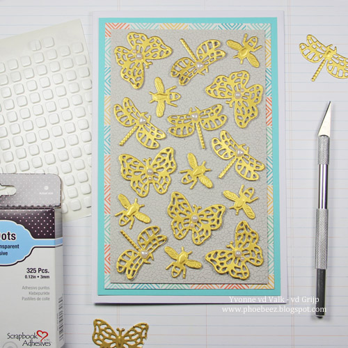 Spring Dimensional Insect Card with 3D Foam Squares by Yvonne van de Grijp for Scrapbook Adhesives by 3L,