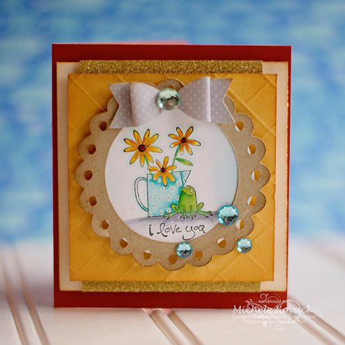 Sweet Spring Card with Sparkle and Dimension by Michele Kovack for Scrapbook Adhesives by 3L