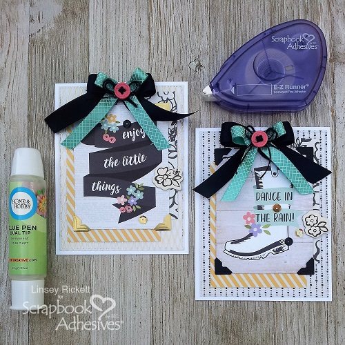 Spring Bliss Cards with Vellum by Linsey Rickett for Scrapbook Adhesives by 3L