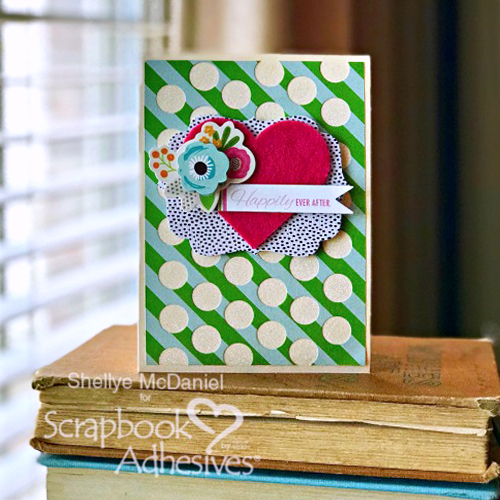 Glittered Background Card by Shellye McDaniel for Scrapbook Adhesives by 3L