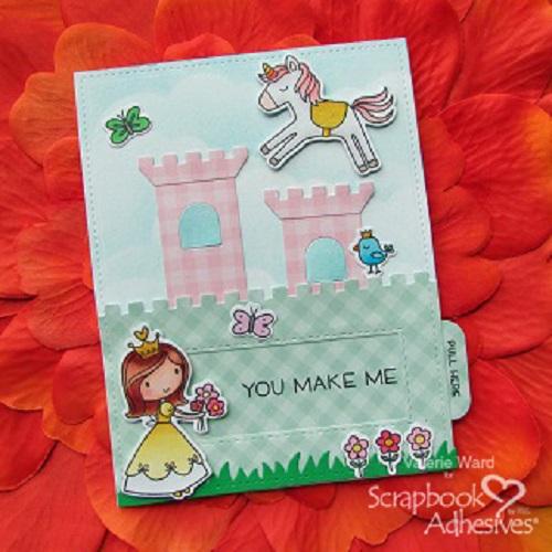 Princess slider card by Valerie Ward