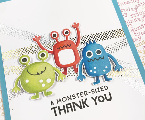 Monster of a Thank You Card by Yvonne van de Grijp for Scrapbook Adhesives by 3L Blog