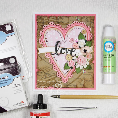 Building Layers of Love by Yvonne van de Grijp for Scrapbook Adhesives by 3L