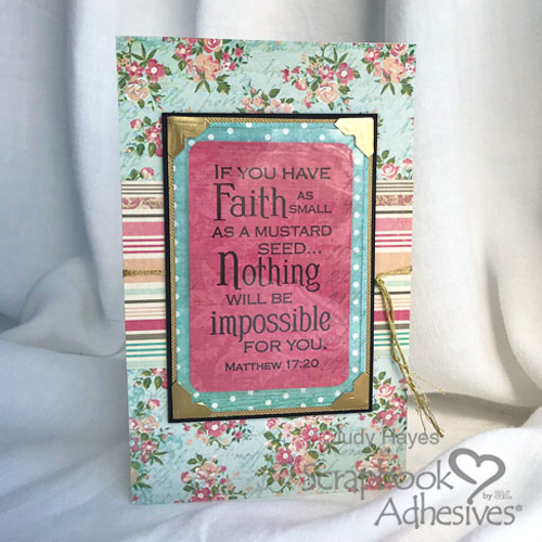 Pocket Inspiration Card with Self-Laminating Pouches by Judy Hayes for Scrapbook Adhesives by 3L