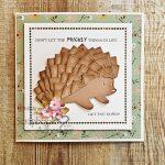 Hedgehog Card using Creative Photo Corners by Christine Emberson