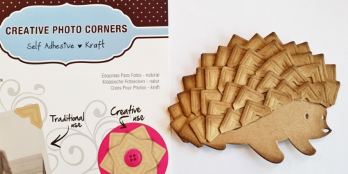 Hedgehog Card using Creative Photo Corners by Christine Emberson for Scrapbook Adhesives by 3L