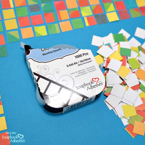 DIY Mosaic Background with Click 'n Stick by Dana Tatar for Scrapbook Adhesives by 3L