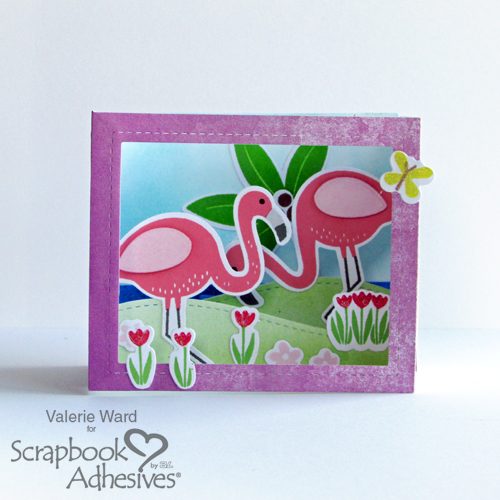 Flamazing Birthday Box Card by Valerie Ward for Scrapbook Adhesives by 3L