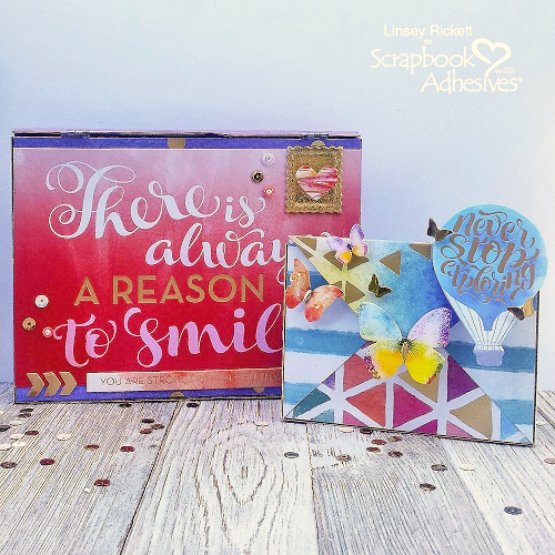 Sparkling Altered Metal Envelopes by Linsey Rickett for Scrapbook Adhesives by 3L