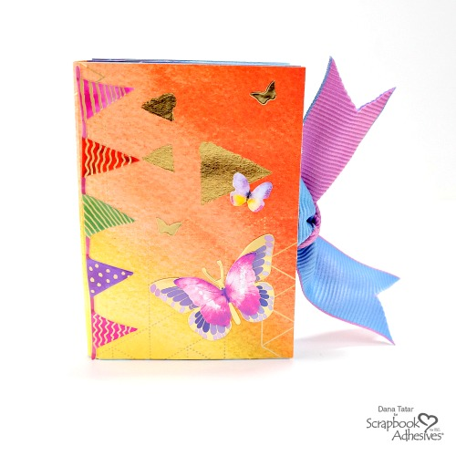 Sparkling Color Washed Mini Album by Dana Tatar for Scrapbook Adhesives by 3L