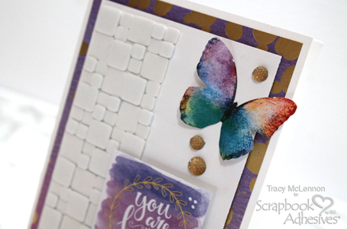 Mosaic Card Using 3D Foam Squares by Tracy McLennon for Scrapbook Adhesives by 3L
