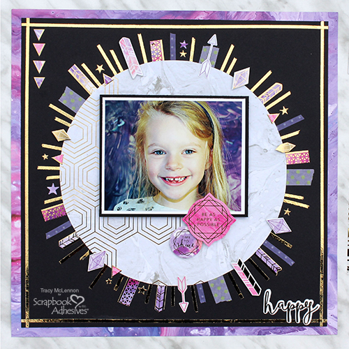 Sparkle Happy Scrapbook Page by Tracy McLennon for Scrapbook Adhesives by 3L