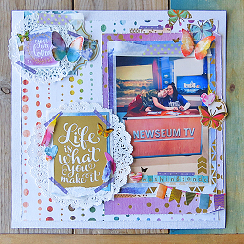 Life is what You Make It Scrapbook Page by Shannon Morgan for Scrapbook Adhesives by 3L