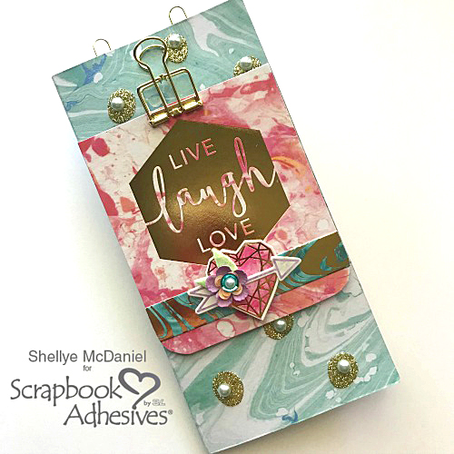 Sparkle with Marbleous Mini Album by Shellye McDaniel for Scrapbook Adhesives by 3L