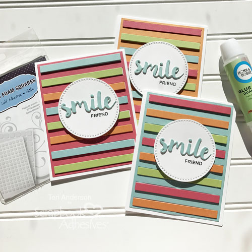 3D Smile Friend Card Set for Scrapbook Adhesives by 3L by Teri Anderson