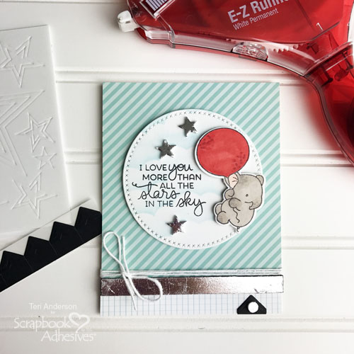 Adding Sparkle and Shine to a Stamped Card by Teri Anderson for Scrapbook Adhesives by 3L
