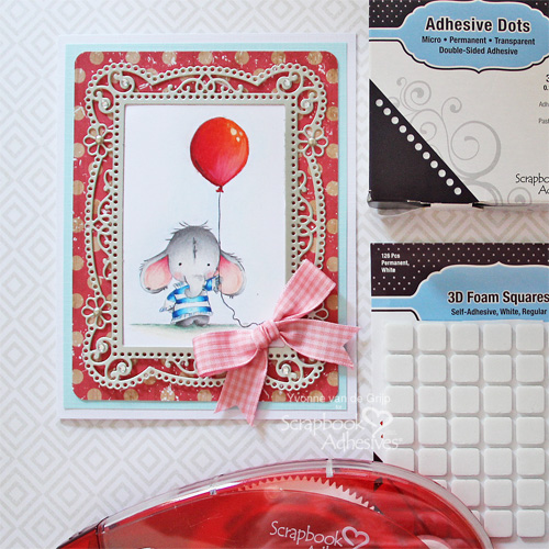 Cute Layered Elephant Card by Yvonne van de Grijp for Scrapbook Adhesives by 3L