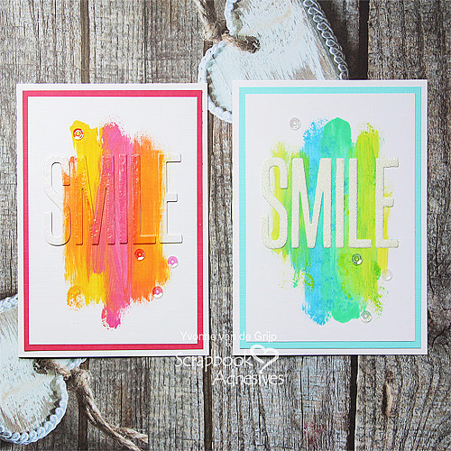 CAS Cards with a Smile and 3D Creative Sheets by Yvonne van de Grijp for Scrapbook Adhesives by 3L