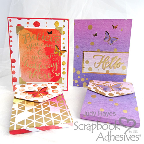 Sparkle Butterfly Notepad and Card Set by Judy Hayes for Scrapbook Adhesives by 3L