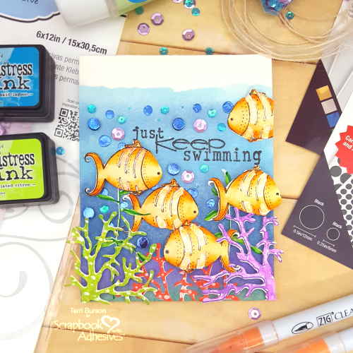 Celebrate World Ocean Day by Terri Burson for Scrapbook Adhesives by 3L